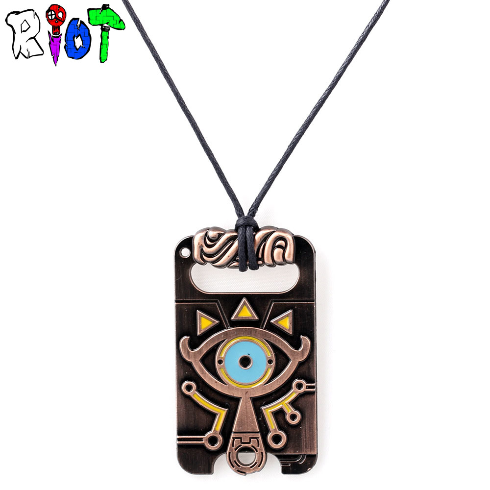 Anime game The Legend of Zelda: Breath of the Wild choker vintage necklace Big eyes Logo alloly Pendant Charm jewelry fans Gift blue light blocking glasses