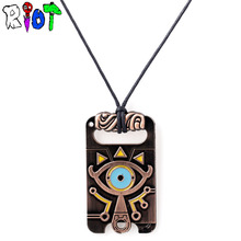 The Legend of Zelda  Breath of the Wild Anime game choker vintage necklace Big eyes Logo alloy Pendant Charm jewelry fans Gift