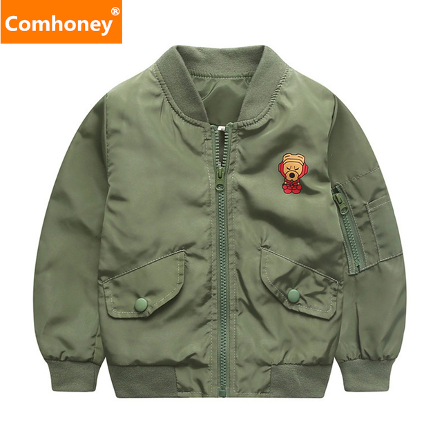 Boys Coat Girls Baseball Sweatshirt Spring Kids Bomber Jacket ...