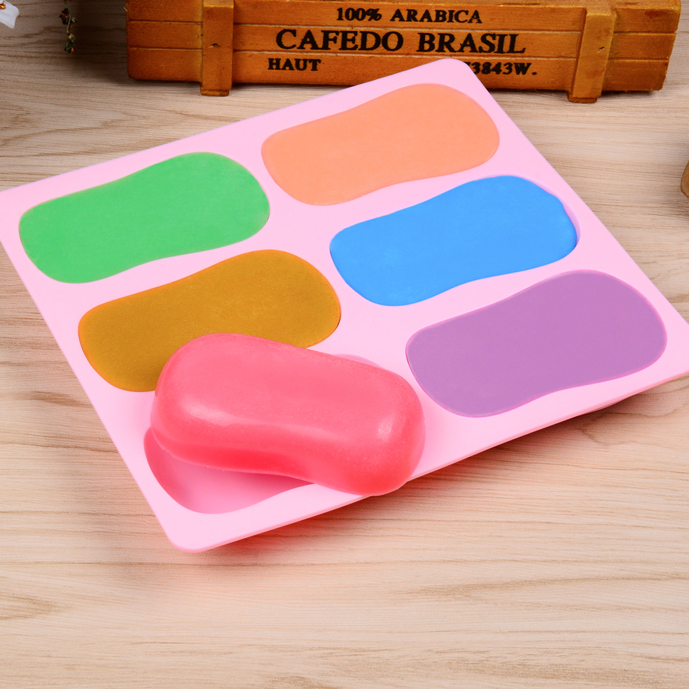 SILIKOLOVE Oval Soap Mold 3D Silicone Soap Molds For Making Soaps DIY Homemade Soap Bar Form Loaf Moulds