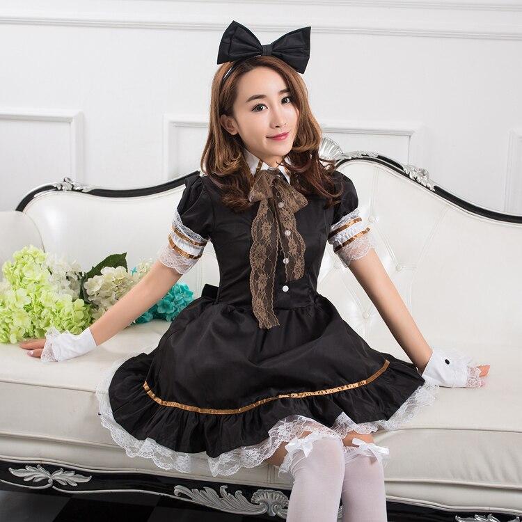 High Quality Women Halloween Costume Lolita Maid Princess Lace Costumes for women girls