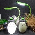 Criativo dos desenhos animados ventilador elétrico usb swich miyazaki hayao totoro noite luz crianças quarto lâmpada exigível guarda-chuva totoro iluminação