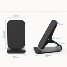 2018 New Style Portable Qi Wireless Power Charger Charging Pad For Iphone 8 / 8 Plus / X phone charger quick charger