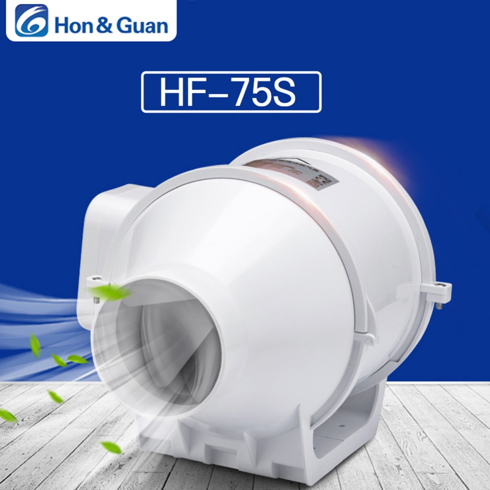 Hon Guan 3 Extractor Fan High Efficiency Mixed Flow Ventilation System Exhaust Air for Bathroom Kitchen