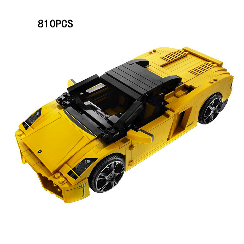 2018 Racing Racers Italy Famous Bull Logo Brand Super Sports Cars 2in1 Building Block Model Bricks Toys Collection for Kids Gift стоимость