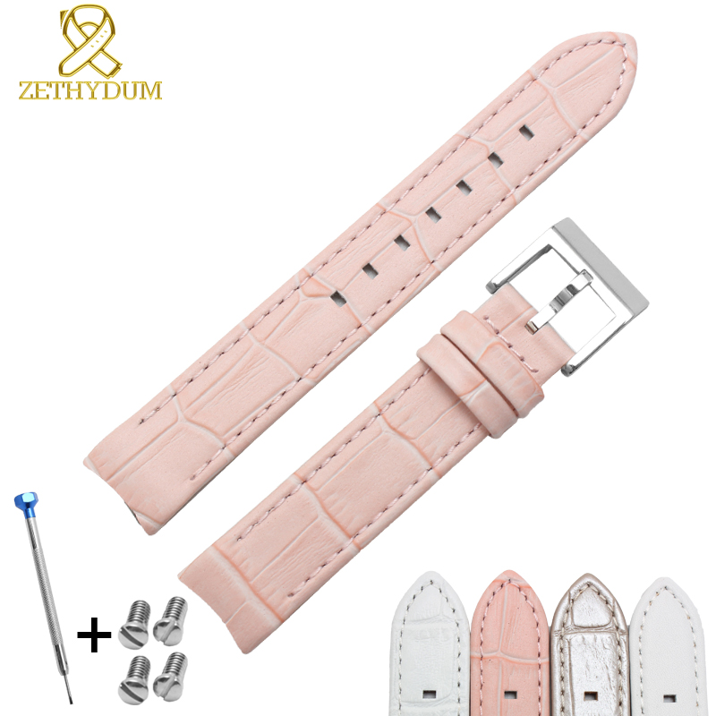 Genuine leather watchband bracelet 17mm Arc mouth cowhide watch strap for womens A series of Lovely zooler women handbag elegant ol shoulder bag ladies cow leather handbags fashion corssbody bags designer genuine leather handbag