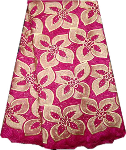 Free shipping Fushia Pink african lace fabric 100 cotton swiss voile high quality african swiss lace