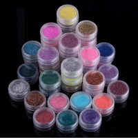 45Pcs Sale Colors Glitter Shiny Nail Art Powder Dust Decoration Many Colours!! I Recommend This for Sure DIY Your Nail Color