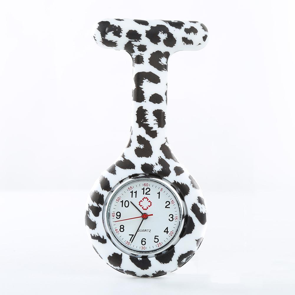 Arabic Numerals Verpleegster Horloge Round Bial Silicone Nurse Pocket Watch Brooch Jacket FOB Pocket Watch Reloj Enfermera Drops