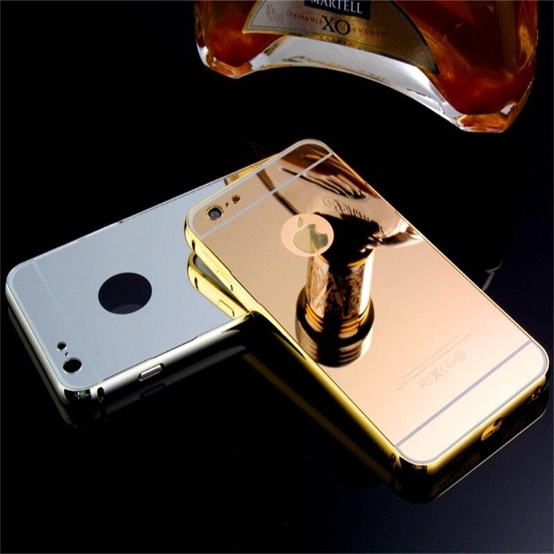 Xinchentech Untuk iphone 6/6 S Plus Kasus Mewah Cermin Logam + Hard - Aksesori dan suku cadang ponsel - Foto 6