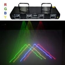 Neue shinp 4 objektiv rgby laser 7ch dmx dpss scanner ausrüstung bühnenbeleuchtung projektor dj party disco show system lichter dl55c+