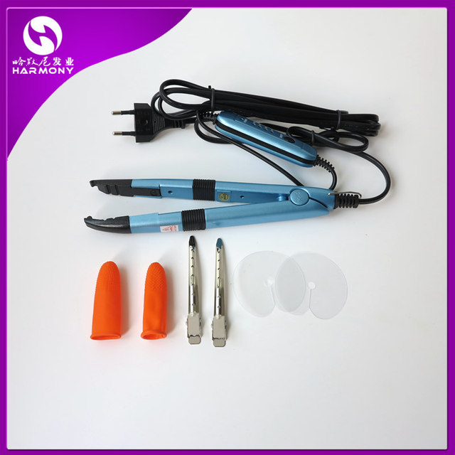 Professional Hair Extension Fusion Iron Heat Connector Pre Bonded Hair Extensions Tools Mini Iron Fusion Connector 4 Colors