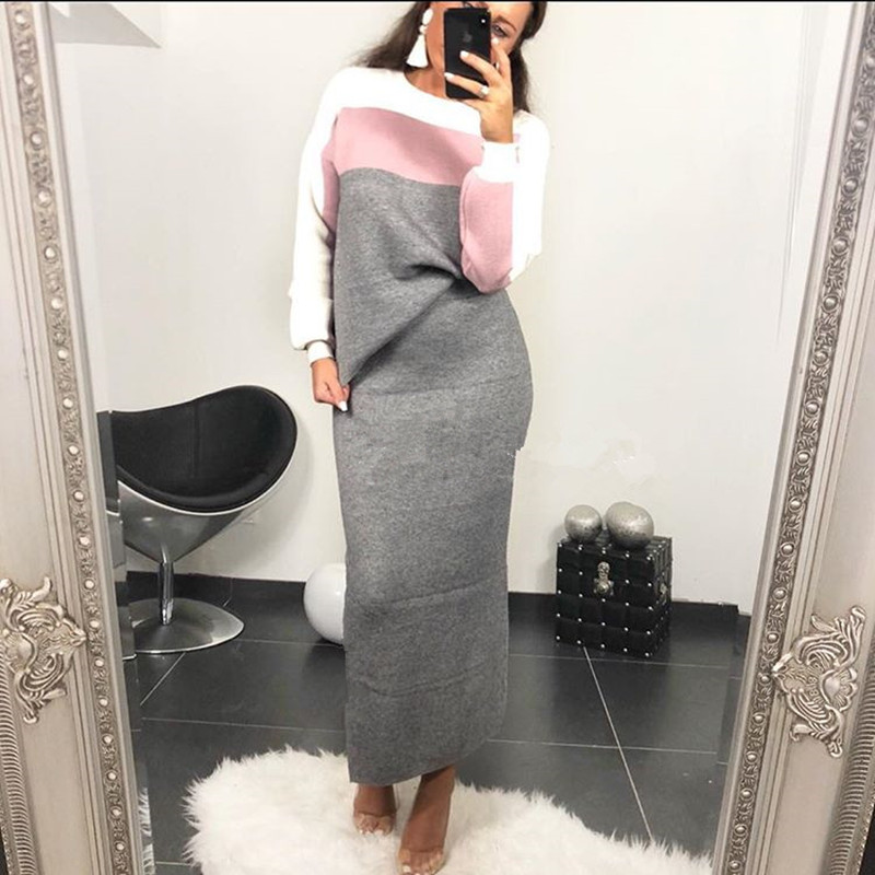 2019 Full Sleeve Patchwork Sexy Autumn Spring Tracksuit Women Set Outfit Fashion Two Pieces Top+ Skirt Suits Femme Sweatshirt