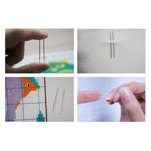 Image 5 - Eternal Love opports Kits de punto de cruz chinos, algodón ecológico estampado, 11ct, adornos navideños para el hogar