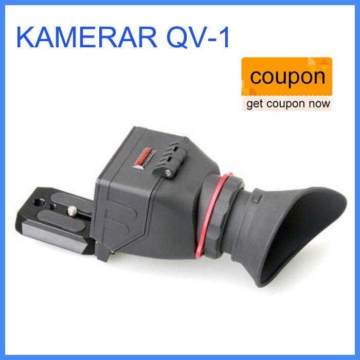 KAMERAR QV-1 LCD Viewfinder For CANON 5D MKIII 6D 7D 60D kamerar qv 1 lcd viewfinder for 3 3 2 canon nikon sony olympus dslr cameras