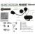 Intercomunicador Bluetooth Multi Interphone Da Motocicleta Acessórios Fones de Ouvido Sem Fio fone de Ouvido do Capacete 3 Pilotos