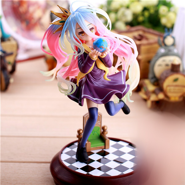 20cm Anime figure Life No Game No Life Shiro Game of Life Painted second generation Game of Life 1/7 PVC action figure model