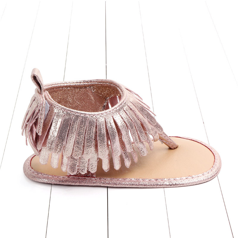Baby comfortable sandals 2018 summer new boy girls beach shoes kids casual sandals children fashion Baby Girl Tassel Sandals (10)