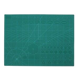 Image 3 - A2 PVC כפול מודפס ריפוי עצמי חיתוך מחצלת תפירה מלאכת רעיונות לוח 60*45cm טלאי בד נייר קרפט כלים