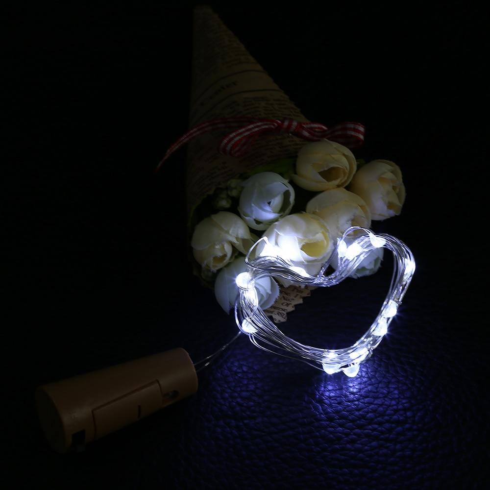 1M 10LED Rézhuzal String Light palackdugóval Led Lights Dekoráció - Üdülési világítás - Fénykép 4
