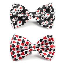 """Новое поступление нежный мужской модный галстук-бабочка бренд """"Игральные карты/покер"""" Красный Черный 3 микс галстук-бабочка мужской смокинг в стиле унисекс вечерние галстуки"""