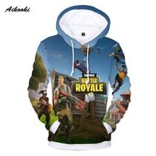 ФОТО aikooki full 3d print game fortnite hoodies men cap sweatshirt polluver harajuku fortnite battle royale 3d printed men clothing