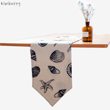100% Linen Flag Tea Cloth Art Television Cabinet Strip Cover A Piece Of Modern Mat Chemin De Table Runner Weding Decoration