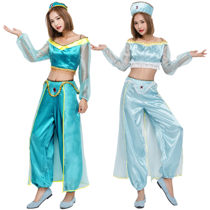adult aladdin 39 s lamp jasmine princess costumes cosplay for woman halloween party belly dance. Black Bedroom Furniture Sets. Home Design Ideas