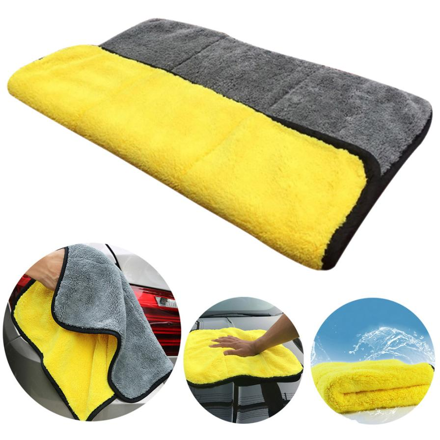CARPRIE Auto Care Super Thick Plush Car Cleaning Car Microfibre Wax Polishing Towels May14 Drop Shipping ultra absorbent towels fast drying 80 60 cm 145g microfiber car cleaning cloths car care microfibre wax polishing towels