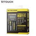 D2 Nitecore 18650 batería DiGi Universal Usb para el banco de la energía del cargador con Pantalla LCD 18650/18490/18350/17670/17500 cargador de batería inteligente