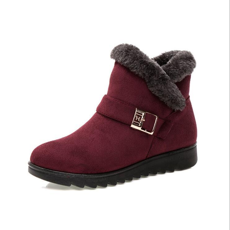 ef663681 Invierno 41 Wedge 6 Zapatos Flock Nieve Tamaño Nueva Botas Casual Negra 3 2 Moda  Plataforma 4 Tobillo 1 Caliente Mujeres ...