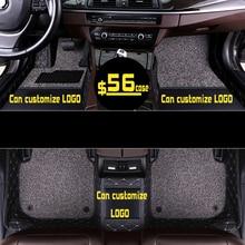 Custom Car foot Mats Luxury Floor Mats For volvo xc90 s60 v40 s40 xc60 c30 s80 v50 xc70