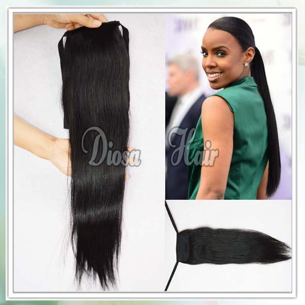 Diosa Virgin Malaysian Human Hair Ponytail Wrap Around Clip
