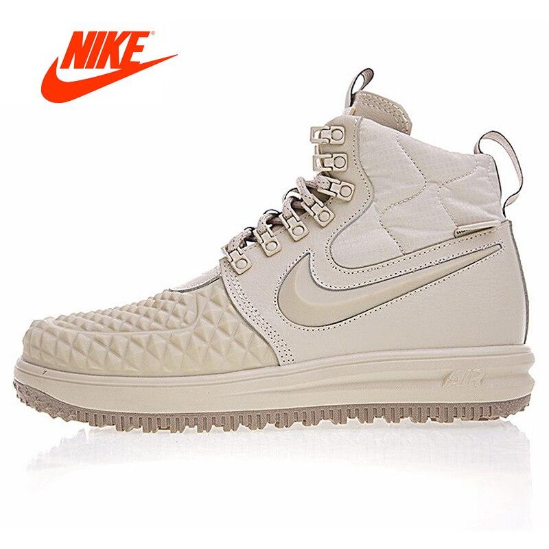 Original Nouvelle Arrivée Authentique Nike Lunar Force 1 Duckboot 17 Hommes Planche À Roulettes de Chaussures de Sport En Plein Air Sneakers 922807-003