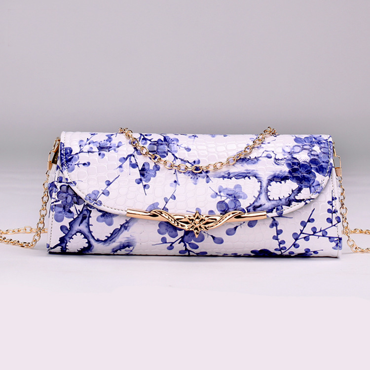 Women PU leather bag printing handbag folk style embossing female small shoulder  bags diagonal chain messenger bag-in Shoulder Bags from Luggage   Bags on  ... 60b0f05c7c82b