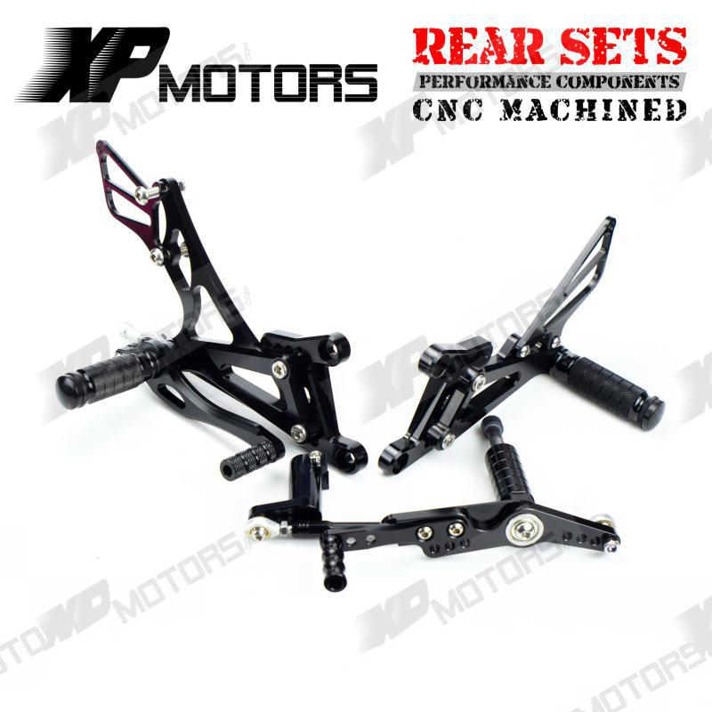 NICECNC Adjustable Rearset Foot Pegs Footrests Billet Foot Rests Footpegs Stainless Bolts Set For Yamaha YZF