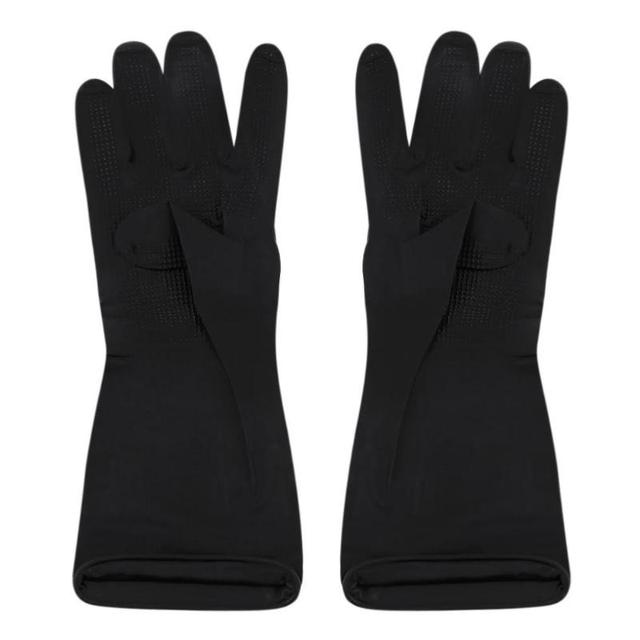 Hair Shampoo Hair Coloring Antiskid Gloves Black Latex with ...