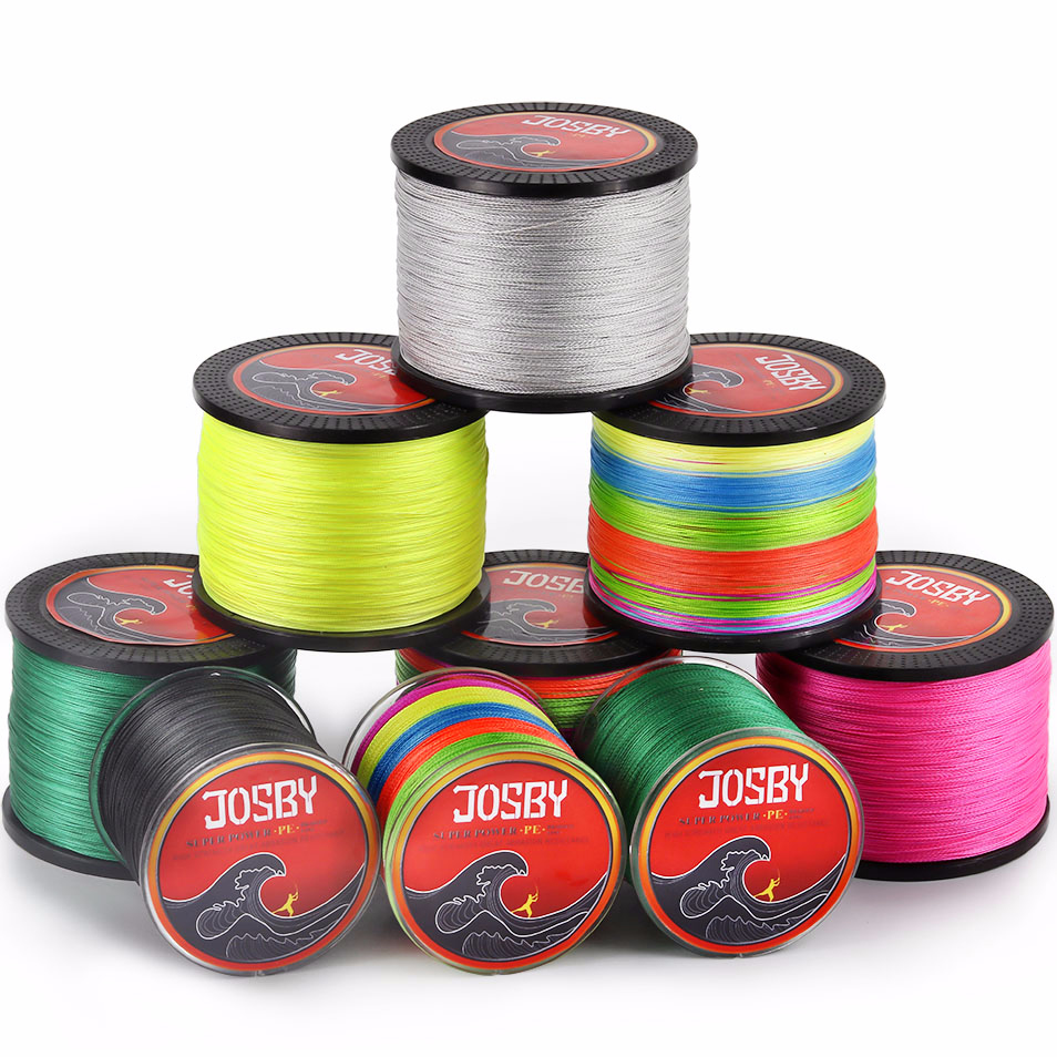 JOSBY 4&8 Strands 300M 500M1000M PE Braided Fishing Line Braided fishing net line Kite line Super wearable and strong