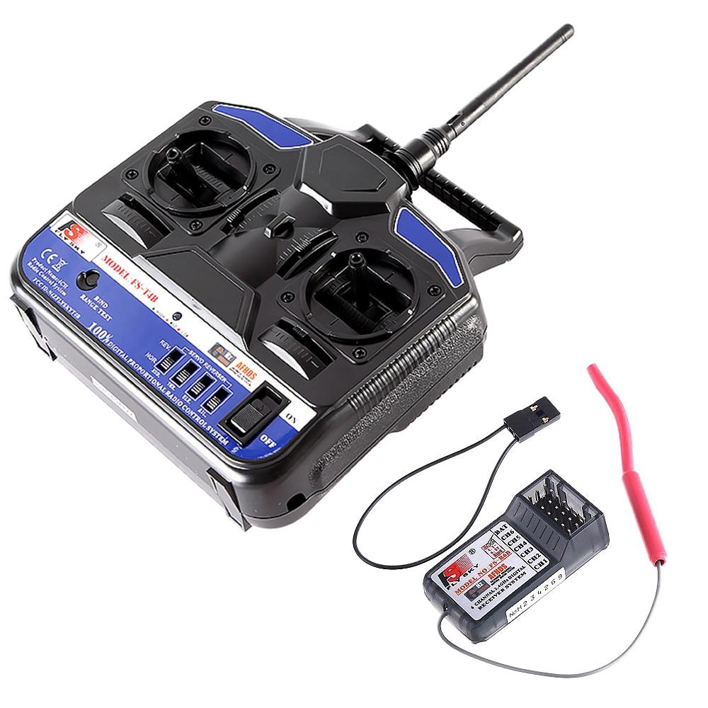 Original FlySky FS-T4B 2.4G 4CH Radio Control RC Transmitter & RC Receiver for RC Airplane Parts