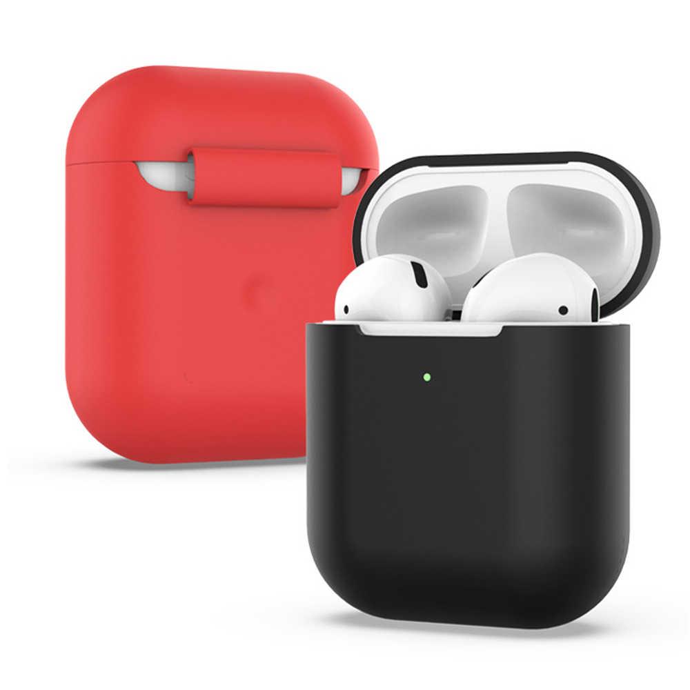 1PC Nieuwe TPU Zachte Siliconen Case Voor Airpods 2 Protector Beschermende Huid Cover Stofdicht Anti verloren Slanke Draadloze oortelefoon Pouch