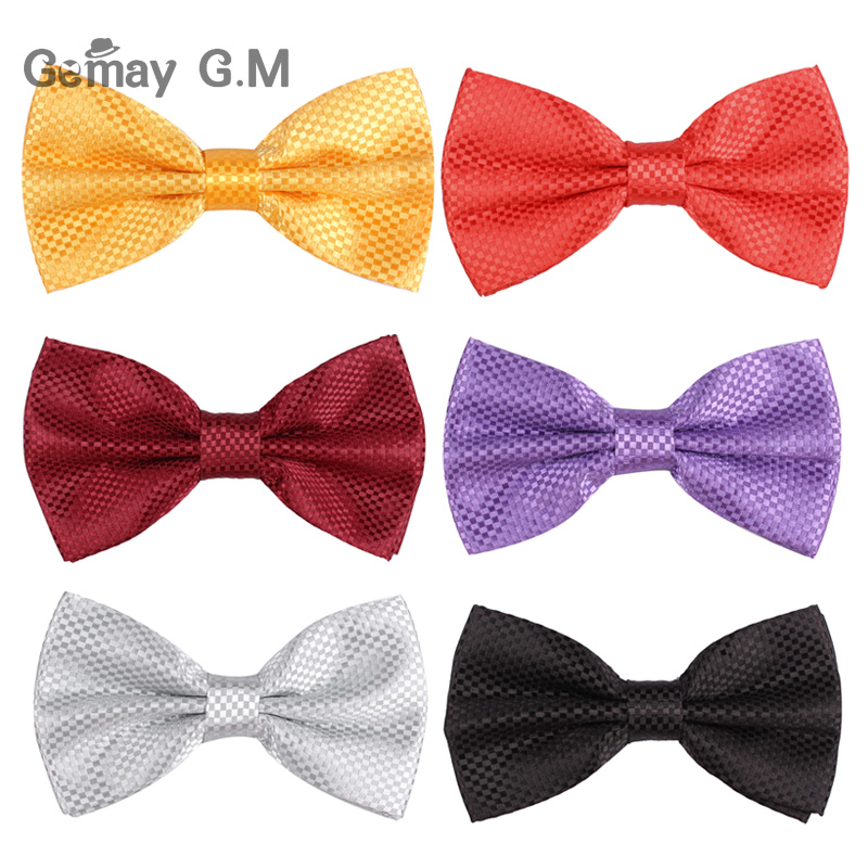 Men Classic Plaid Bow ties Neckwear Adjustable Shirts Mens Tuxedo Bow Tie Polyester Bowties for Wedding plaid