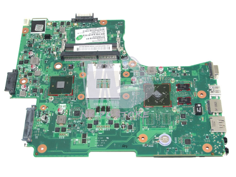 V000218130 Main Board For Toshiba Satellite L650 L655 Laptop Motherboard HM55 DDR3 ATI HD5470 Discrete Graphics h000042190 main board for toshiba satellite c875d l875d laptop motherboard em1200 cpu ddr3
