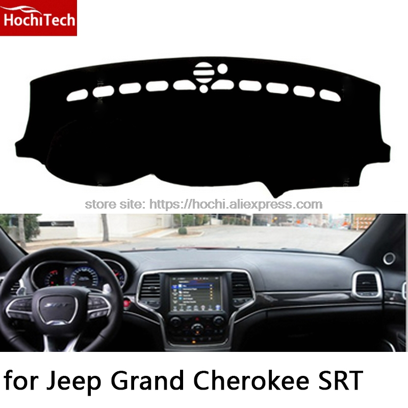 HochiTech for Jeep Grand Cherokee SRT dashboard mat Protective pad Shade Cushion Photophobism Pad car styling accessories