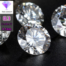 4 mm DEF Start Cut White Moissanite Stone Loose Moissanite Diamond 0.3 carat for Jewelry printio волк этник page 10 page 2 page 6