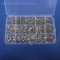 200pcs 304Stainless Steel Screw Cap Head Bolt M3/M4/M5 Hex Socket screw Assortment kit allen socket cap machine screw