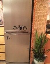 Funny Design Vinyl Fridge Sticker ,Cute Penguin Decals For Home Dining Room/Kitchen Decoration
