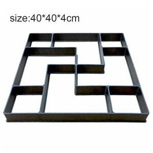 Image 5 - 40*40*4 センチメートルdiy舗装モールドステッピング石畳私道パティオ舗装パスメーカー床デザイン
