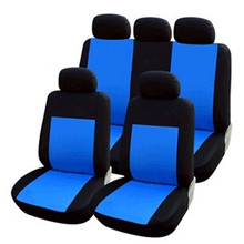 Fashion Universal Car Seat Covers Polyester 9PC/Set Waterproof Front Rear Steering Wheel Cover Protector Cushion Pad Supply 2015