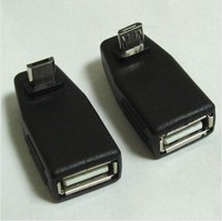 1 Pairs One UP One Down Angle 90 Degree Micro Usb To Usb Otg Adapter