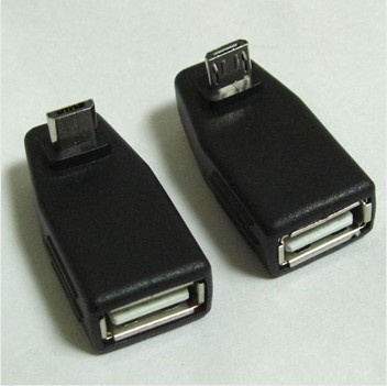 1 pair one UP + one Down angle micro usb B male 90 degree to usb A female otg adapter converter